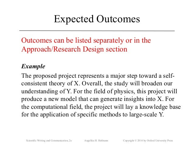expected results research proposal