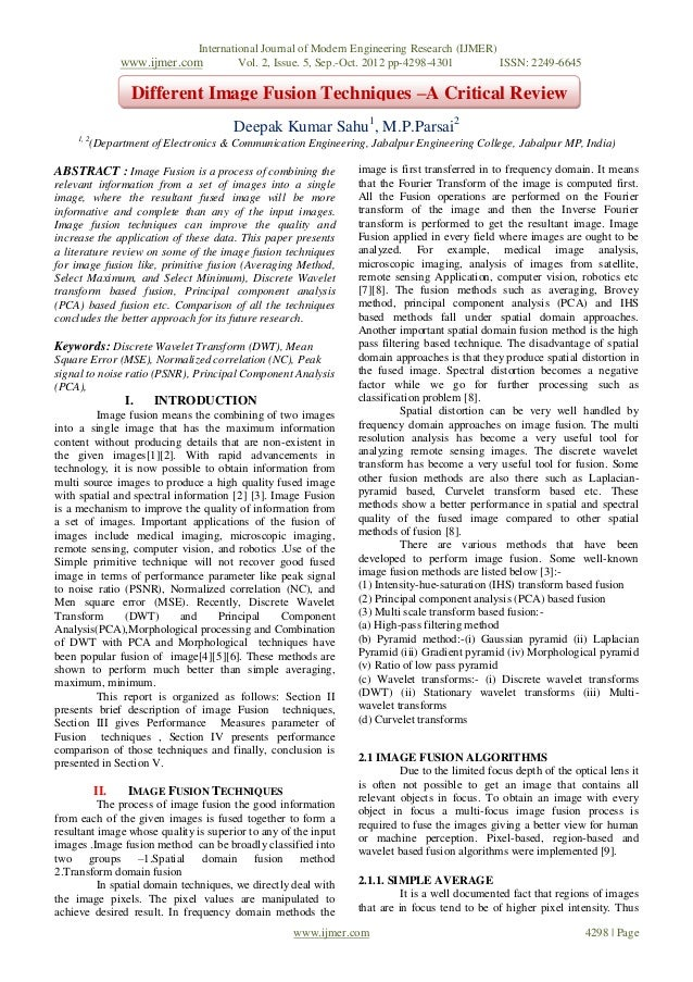 International Journal of Modern Engineering Research (IJMER)                  www.ijmer.com           Vol. 2, Issue. 5, Se...