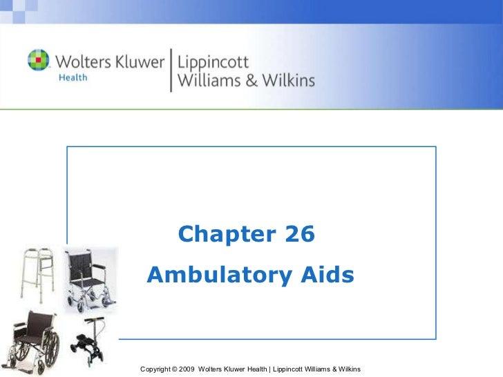 Chapter 26  Ambulatory Aids