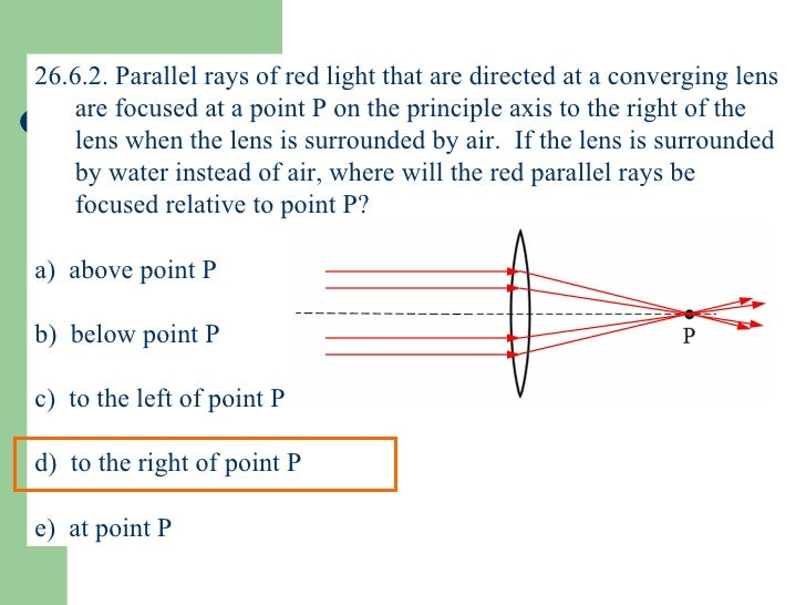 Ch 26 Light Refraction: Lenses and Optical Instruments