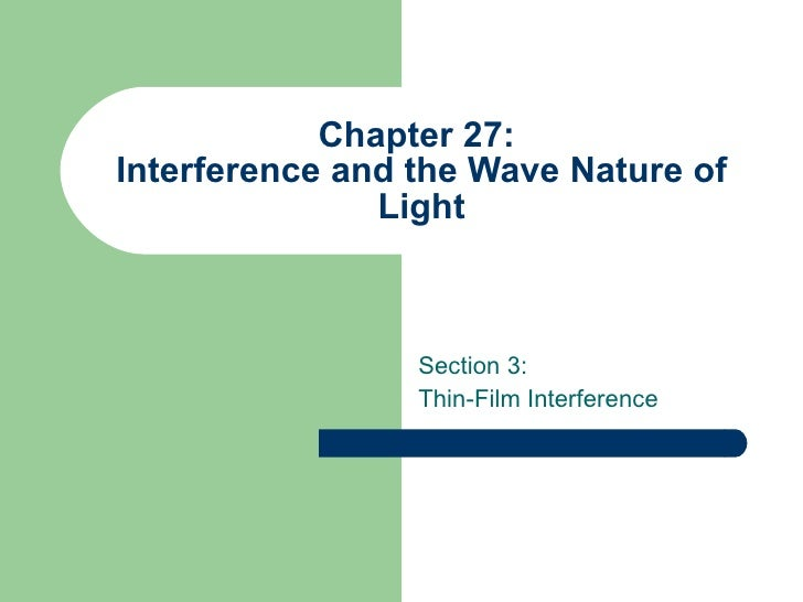 interference with nature Abstract: the influence of the dephasing on interference is investigated  theoretically and experimentally in three-level electromagnetically induced.