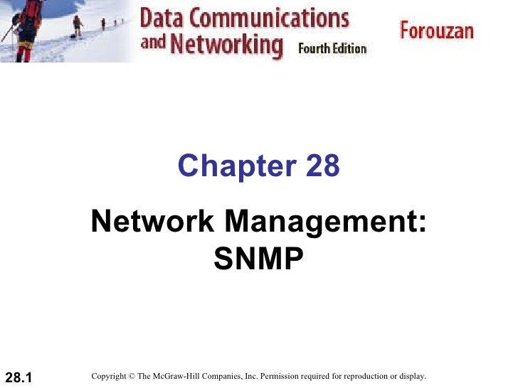 Chapter 28 Network Management: SNMP Copyright © The McGraw-Hill Companies, Inc. Permission required for reproduction or di...