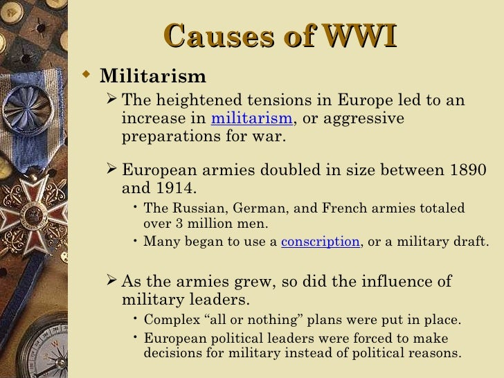 What were the long term causes of world war 1 essay