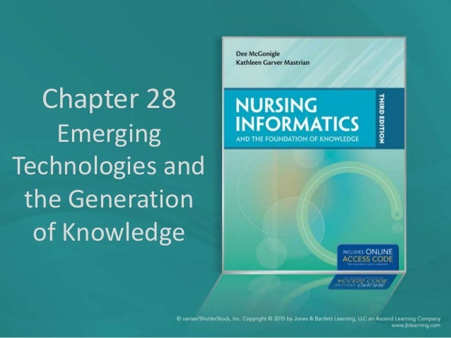 Chapter 28 Emerging Technologies and the Generation of Knowledge