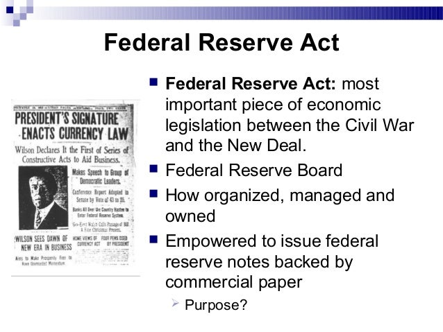 Federal reserve system essay