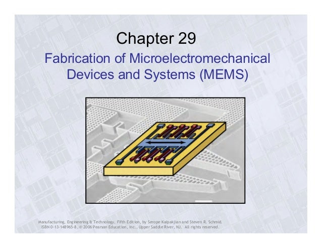 Chapter 29  Fabrication of Microelectromechanical  Devices and Systems (MEMS)  Manufacturing, Engineering & Technology, Fi...