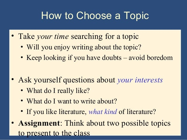 Essay topics pdf SlidePlayer