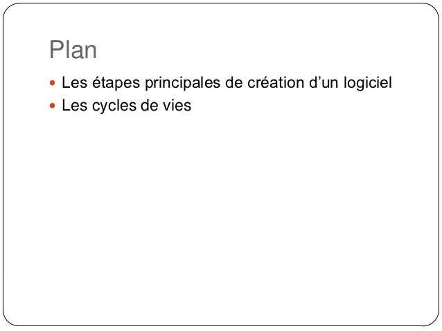 Cycles De Vie D 39 Un Logiciel