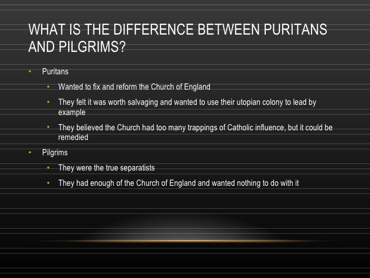 the difference between english puritans and the church of england