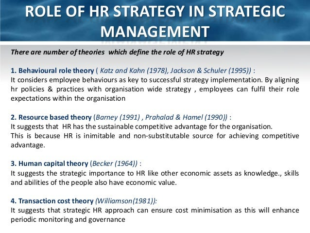 Ch Human Resource Policies And Strategies