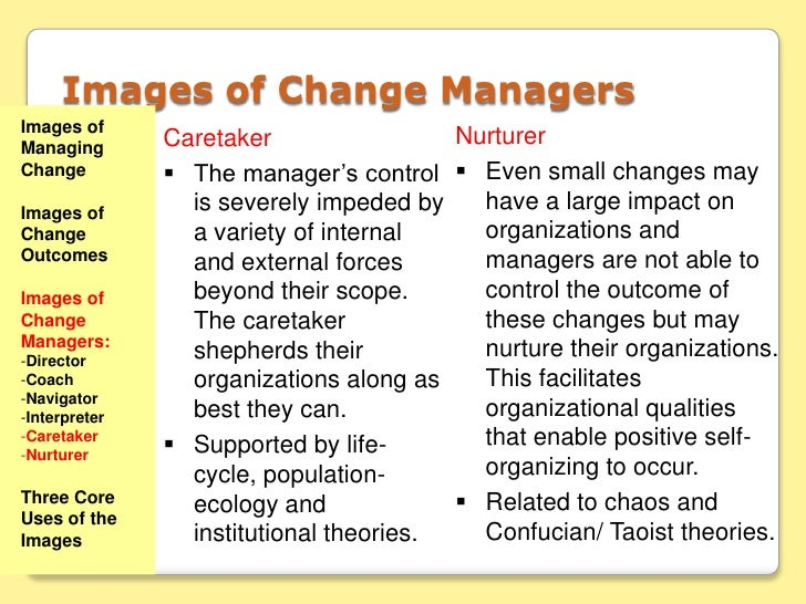 nurturer image of change Study flashcards on change management test at cramcom quickly memorize the terms  images of managing change three core uses of the images  1 nurturer.