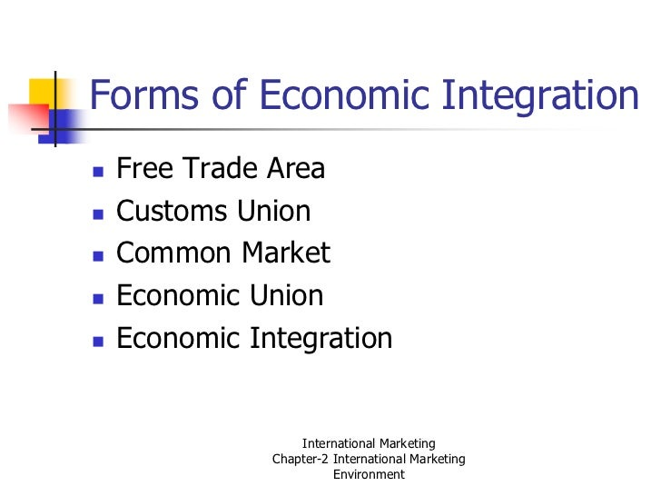 economic integration in the globalised world Economic globalization are: international trade liberalization, development of foreign direct investment, capital markets development, regional economic integration, and the development of technology and the increasing role of international financial institutions.