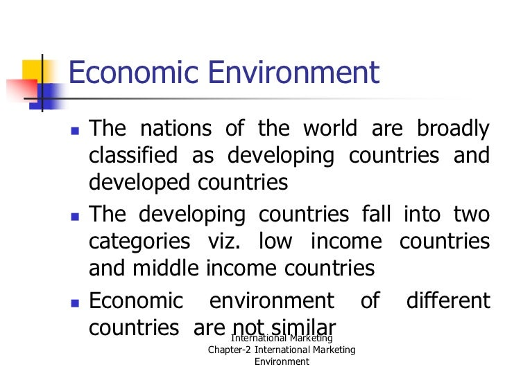 economic environment with example In his 1910 book the fight for conservation, for example, the american  the  goals of economic growth and environmental sustainability rests on a contestable .