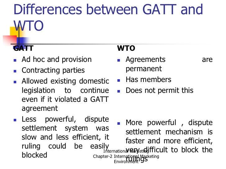 gatt and wto relationship marketing