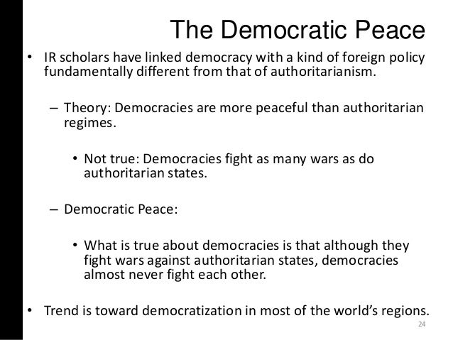 democratic peace thesis kant Liberal peace thesis / democratic peace theory liberal peace thesis has its roots to perpetual peace developed by immanuel kant peace thesis: democratic peace.