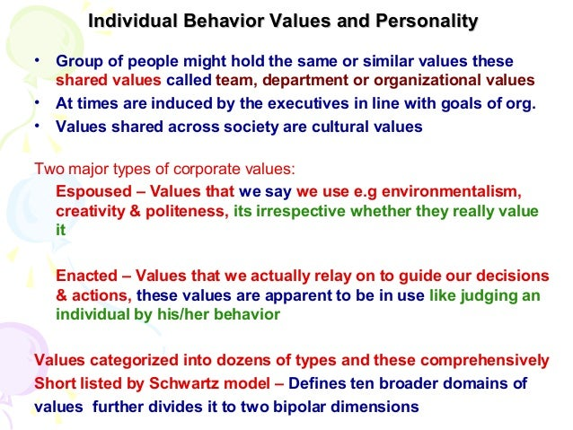 chapter 2 individual behavior personality and values multiple choice questions Multiple-choice study questions for first exam—set 3 lecture notes on chapter 3 assumes that each individual has stable personality characteristics.