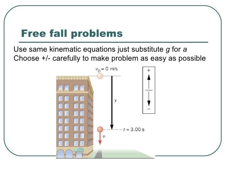 free fall worksheet