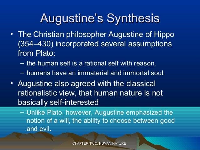 compare the concept of man between plato and st augustine