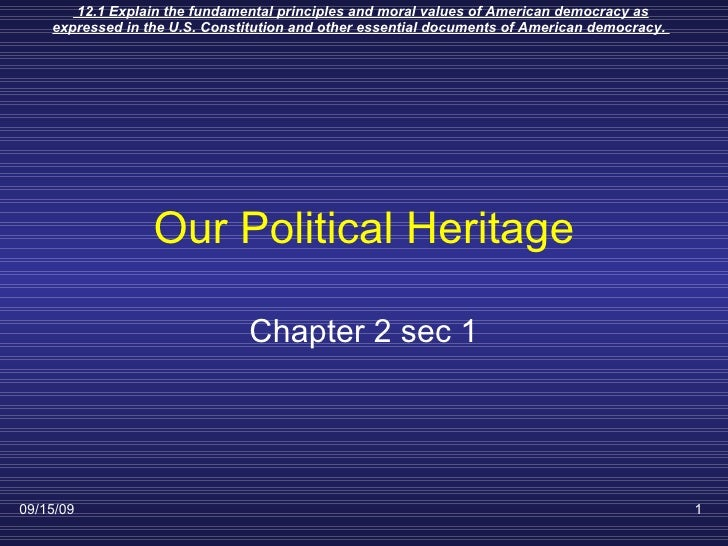 Our Political Heritage Chapter 2 sec 1