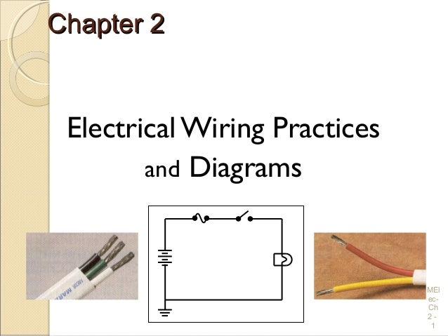 Chapter 2Chapter 2 Electrical Wiring Practices and Diagrams MEl ec- Ch 2 - 1 ...  sc 1 st  SlideShare : what is electrical wiring diagram - yogabreezes.com