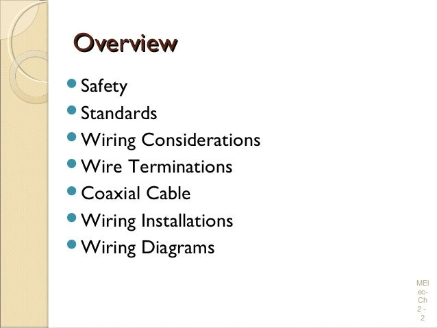 electrical wiring practices and diagrams chapter 2chapter 2 electrical wiring practices and diagrams mel ec ch 2 1 2