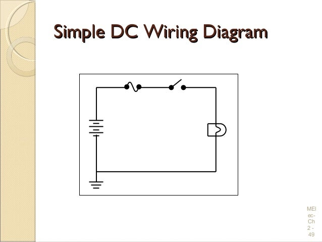 electrical wiring practices and diagrams simple dc wiring diagramsimple dc wiring diagram