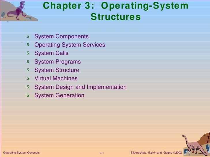 Chapter 3:  Operating-System Structures <ul><li>System Components </li></ul><ul><li>Operating System Services </li></ul><u...