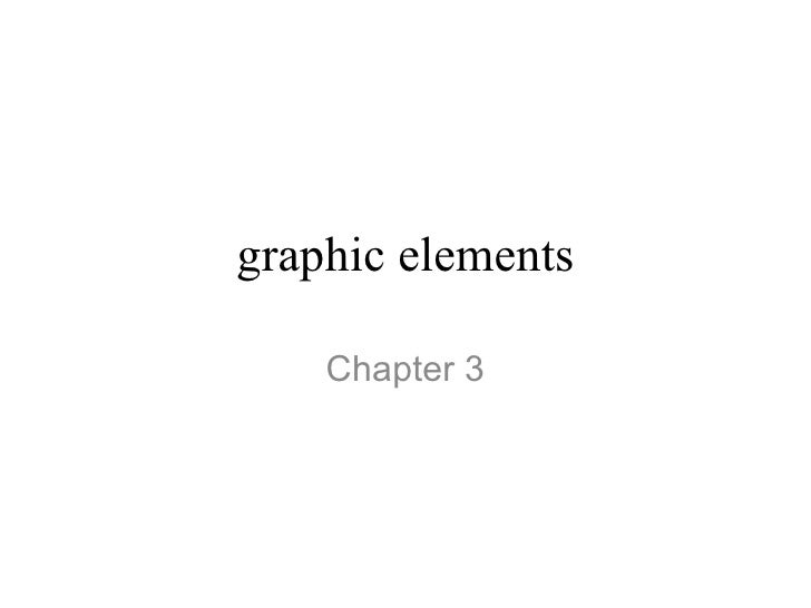 graphic elements Chapter 3
