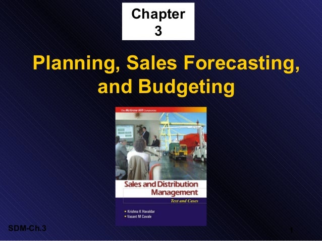 Chapter 3  Planning, Sales Forecasting, and Budgeting  SDM-Ch.3  1