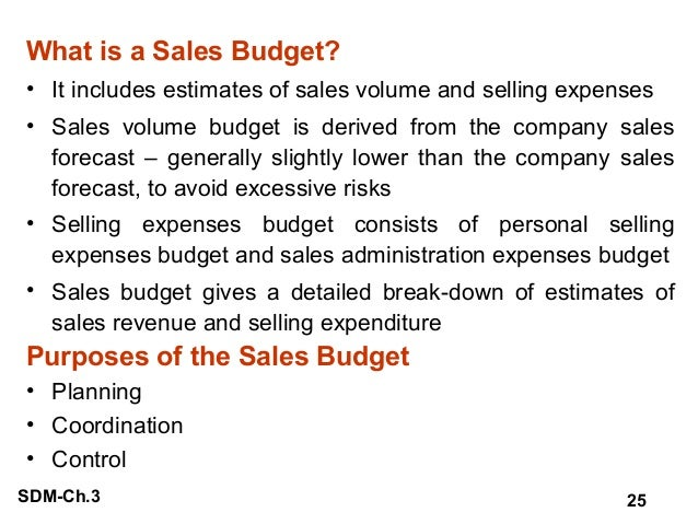 the importance of the sales budget