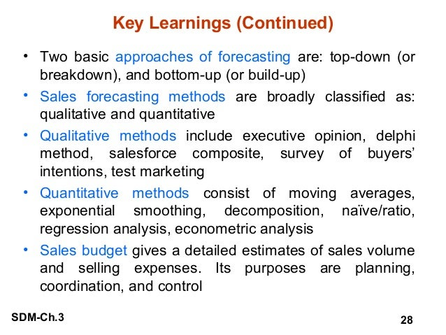 Planning Sales Forecasting And Budgeting