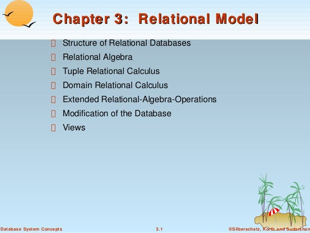 Chapter 3: Relational Model Structure of Relational Databases Relational Algebra Tuple Relational Calculus Domain Relation...