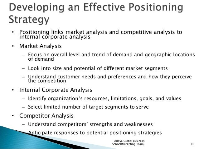 Positioning Services in Competitive Markets – Competitive Market Analysis