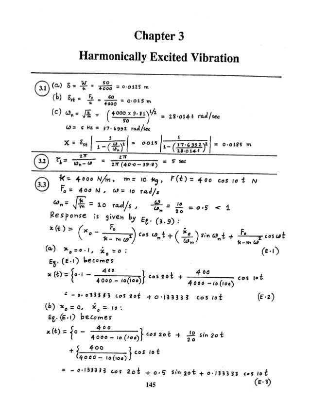 mechanical vibrations by ss rao 4th edition solution manual chapter 03 rh slideshare net mechanical vibrations rao 4th solution manual pdf mechanical vibrations rao 4th solution manual free download