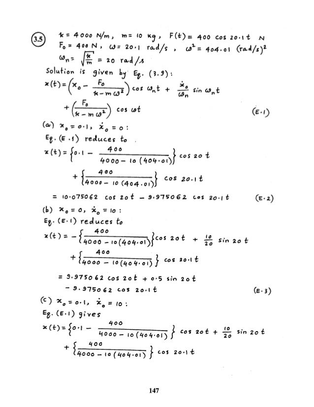 mechanical vibrations kelly solution manual pdf
