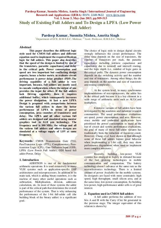 Pardeep Kumar, Susmita Mishra, Amrita Singh / International Journal of EngineeringResearch and Applications (IJERA) ISSN: ...
