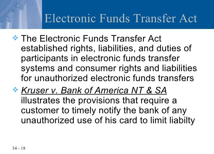 Chapter 34 Checks And Electronic Transfers