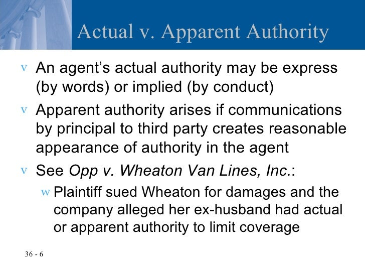difference between actual and apparent authority