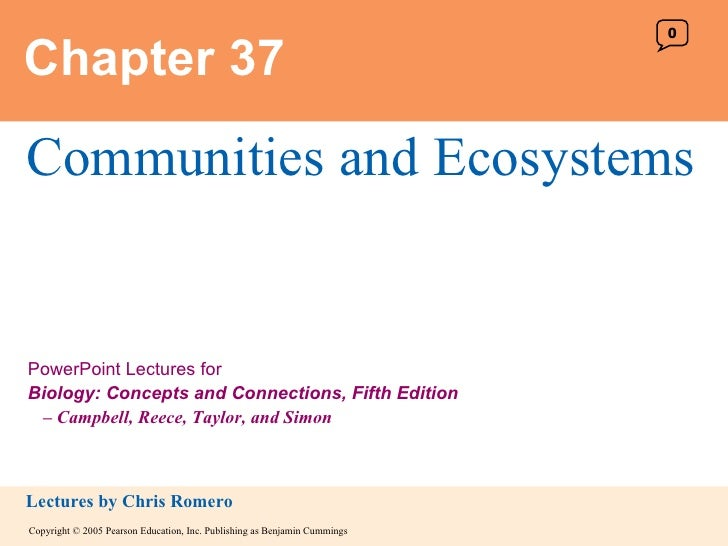 Chapter 37 Communities and Ecosystems 0