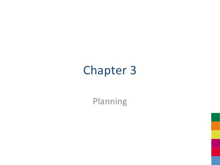 Chapter 3 Planning