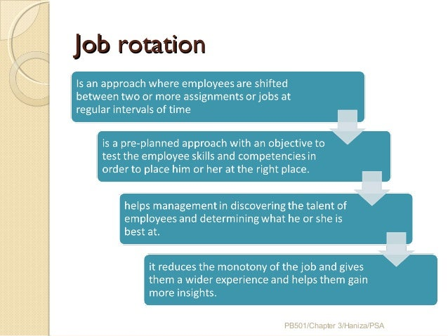job rotation program template - chapter 3 job analysis strategic planning job