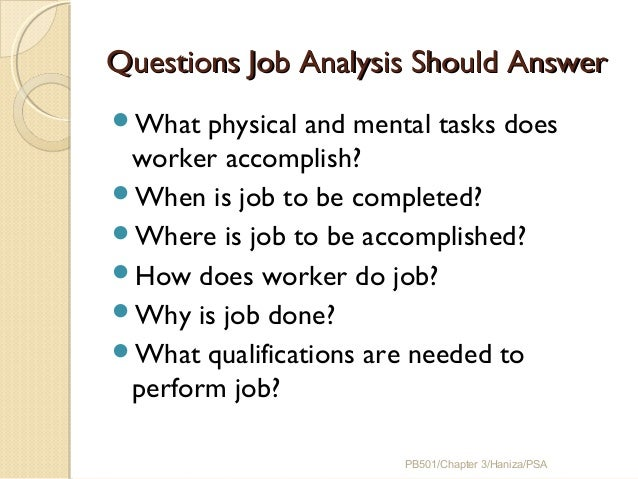 Chapter 3 Job Analysis, Strategic Planning, Job Description And Job S…
