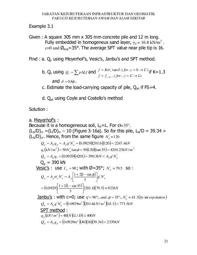 JABATAN KEJURUTERAAN INFRASTRUKTUR DAN GEOMATIK FAKULTI KEJURUTERAAN AWAM DAN ALAM SEKITAR  Example 3.1 Given : A square 3...