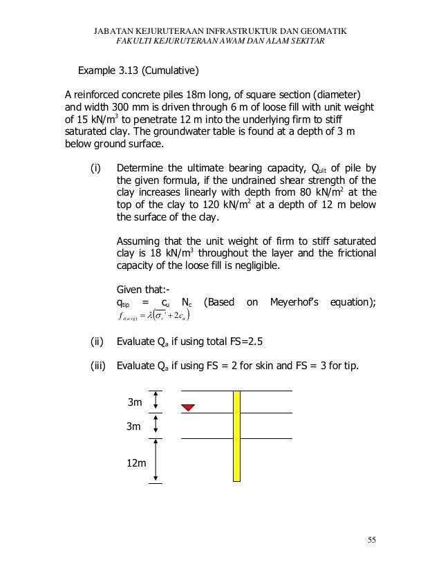 JABATAN KEJURUTERAAN INFRASTRUKTUR DAN GEOMATIK FAKULTI KEJURUTERAAN AWAM DAN ALAM SEKITAR  Example 3.13 (Cumulative) A re...
