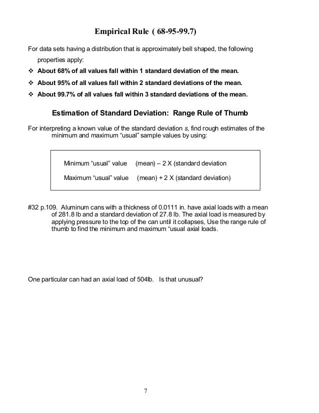 Empirical Rule Worksheet Worksheets Reviewrevitol Free Printable