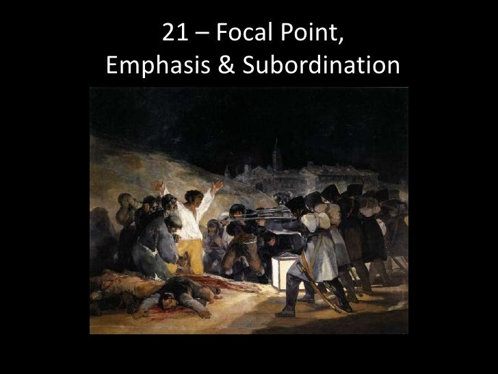 emphasis and subordination art
