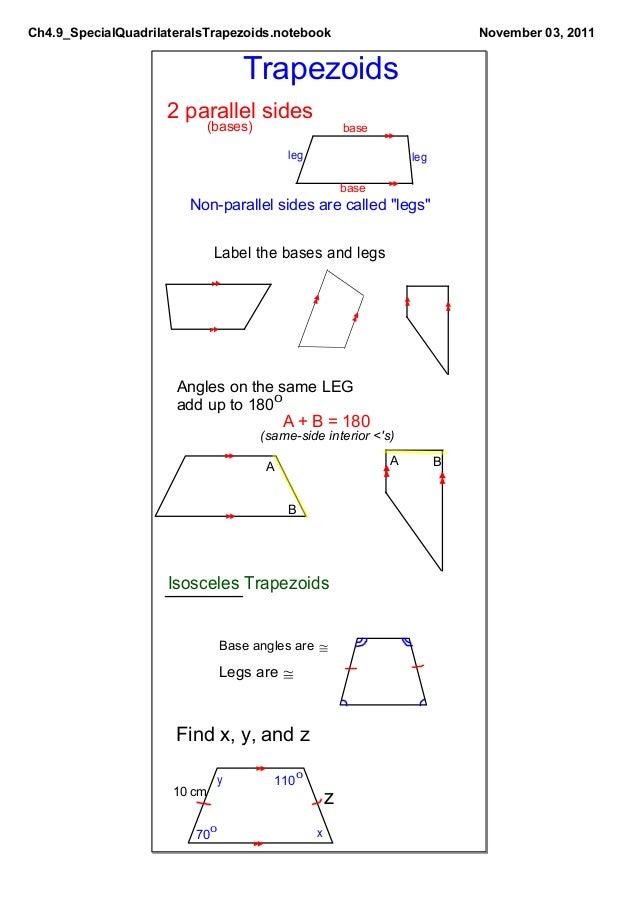 Ch4.9 Special Quadrilaterals: Trapezoids Slide 2