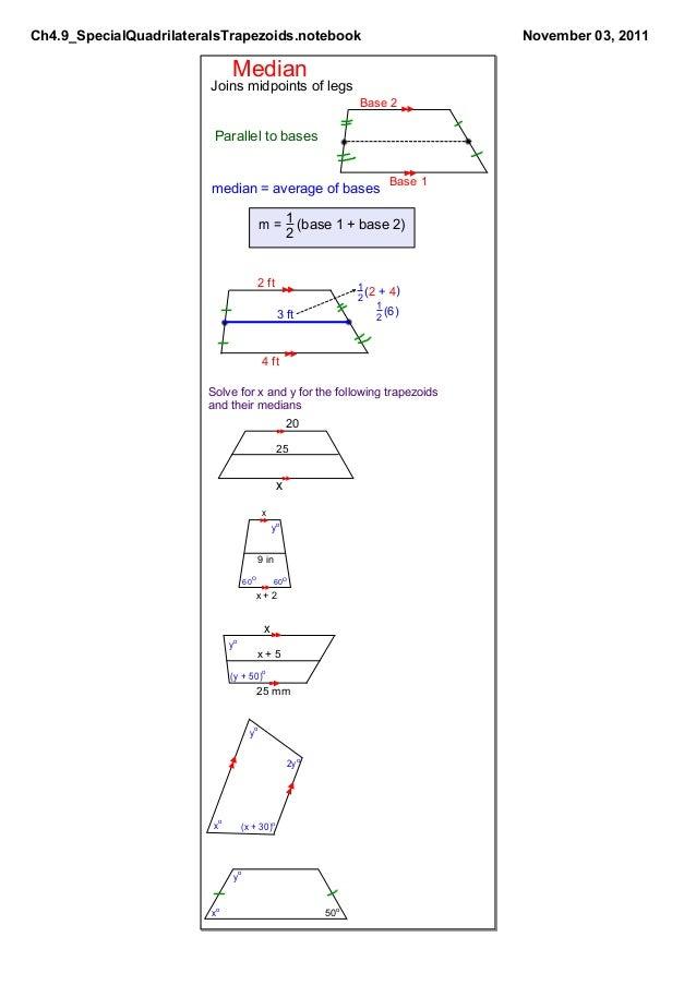 Ch4.9 Special Quadrilaterals: Trapezoids Slide 3