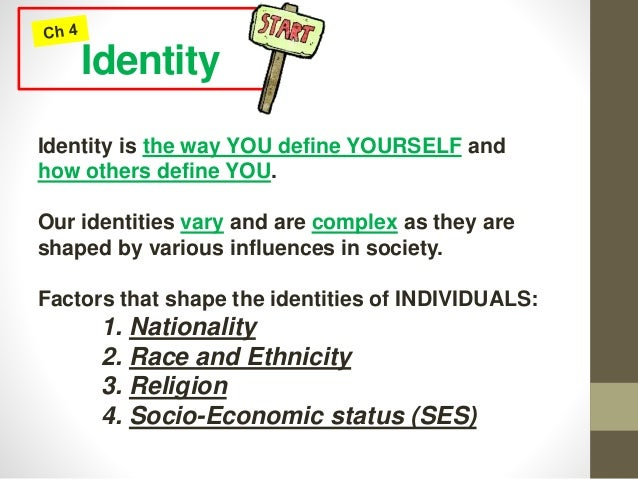 what shapes our identity essay
