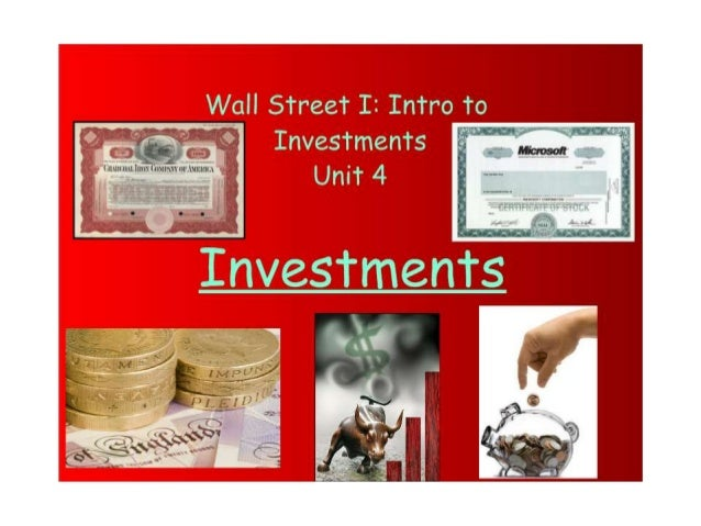 Ch 4   Investments